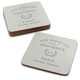 Les Moulins Cork-Backed Coasters, Set of 4