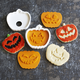 Tovolo Jack-O-Lantern Cookie Stamps, Set of 4