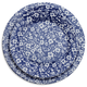 Antique Floral Blue Plate