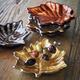 Metallic Glass Leaf Plates