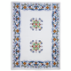 Deruta-Style Linen Kitchen Towel, 28