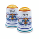 Deruta-Style Salt and Pepper Shaker Set