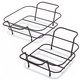 Bronzed Square Baker Racks, Set of 2
