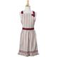 Cranberry Stripe Vintage-Inspired Apron