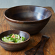 Mango Wood Ridged Serve Bowl