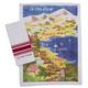 La Côte d'Azur Map Towels, Set of 2