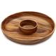 Acacia Wood Chip and Dip Platter