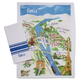 Paris Map Towels, Set of 2