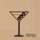 Dirty Martini Paper Cocktail Napkin