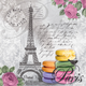 Paris Macarons Paper Cocktail Napkins