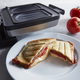 Croquade Croque Monsieur and Toast Waffle Plate