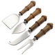 Wood-Handled Cheese Knives, Set of 4