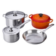Le Creuset Mixed-Materials 7-Piece Set, Flame