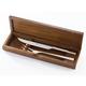 Wüsthof 2-Piece Stainless Steel Carving Set in Walnut Box