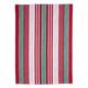 Red & Green Stripe Kitchen Towel, 28