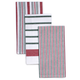 Red & Green Assorted Stripe Kitchen Towels, 28