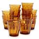 Duralex Amber Picardie Tumblers, Set of 6