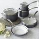 Sur La Table® Hard Anodized Nonstick 10-Piece Set, Cream