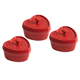 Staub Ceramic Mini Heart Cocottes, Set of 3