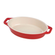 Staub White Ceramic Oval Baking Dishes