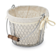 Wire Basket with Liner and Handle