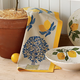 Vintage Lemon Tree Print Towel