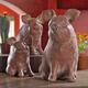 Terracotta Decorative Pigs, Set of 3