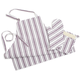 Colorful Muted Stripe Apron, Purple
