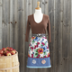 Blue Floral Half-Skirt Vintage-Style Apron