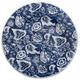 Batik Plate, Indigo