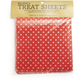 Dotted Red Treat Sheets, Set of 24