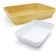 Revol® Seychelles Yellow and White Londres Bakers, Set of 2