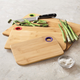 Bamboo Cutting Boards with Silicone Holes, Set of Three