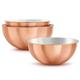 Copper Mixing Bowls, Set of 3