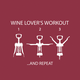 Wine Lover's Workout Paper Cocktail Napkins