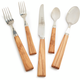 Dubost Olivewood Flatware, 20-Piece Set
