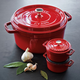 Staub 5.5 qt. Cocotte and Two Mini Cocottes