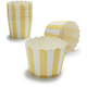 Paper Eskimo® Yellow and White Stripe Baking Cups, Set of 25