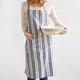 Multistripe Linen Kitchen Apron