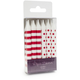 Paper Eskimo® Stripe and Dot Candles, Set of 12