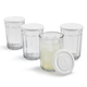 Set of 4 Working Glasses with Lids, 21 oz.