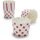 Paper Eskimo® Red and White Dot Baking Cups, Set of 25