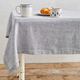 Pinstripe Linen Tablecloth