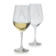 Schott Zwiesel Monogrammed White Wine Glasses, Set of 2