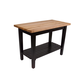 John Boos & Co. Black Classic Country Work Table, One Shelf