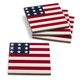 Stars and Stripes Coasters, Set of 4