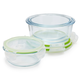 Sur La Table Round Glass Storage Containers, Set of 3