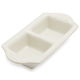 Pearl Stoneware Two-Section Dish