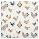 Jacques Pépin Collection Assorted Chickens Cocktail Napkins, Set of 20