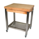 John Boos Cucina Technica Cart with Hard Maple Top